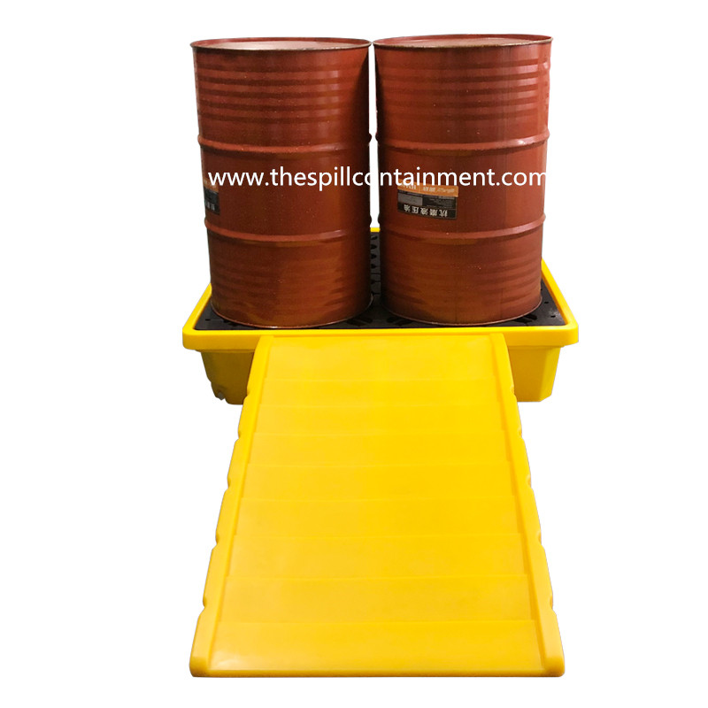 multi-purpose spill containment platform deck ramp