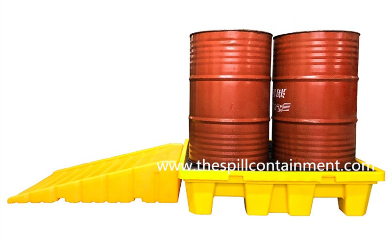 multi-purpose spill containment pallet ramp
