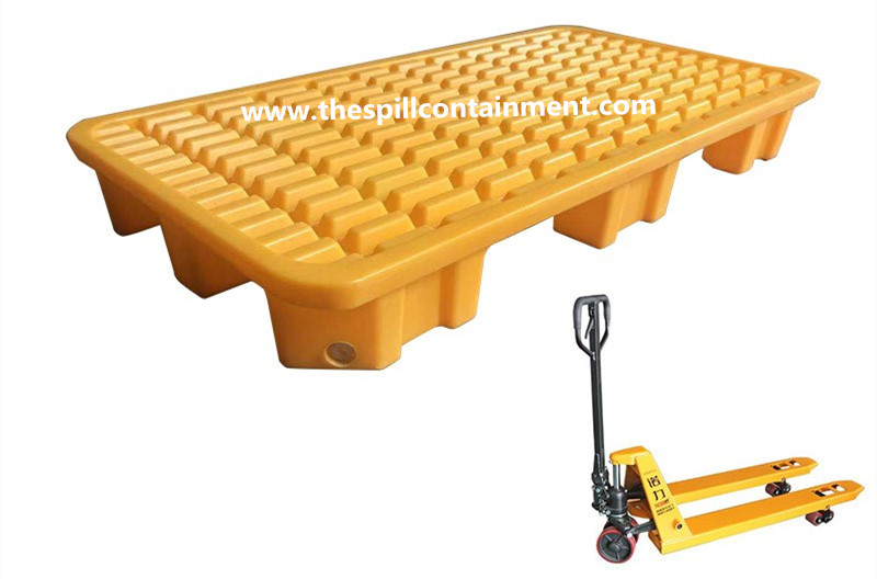 1-piece 2-drum Spill Containment Deck Platform