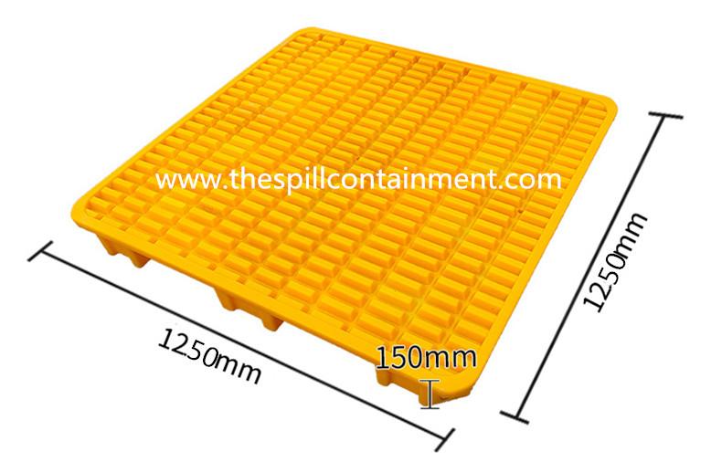 1-piece 4-Drum Spill Containment Deck Platform
