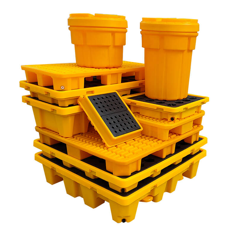 HOOG 1-piece 2-drum Spill Containment Deck Platform
